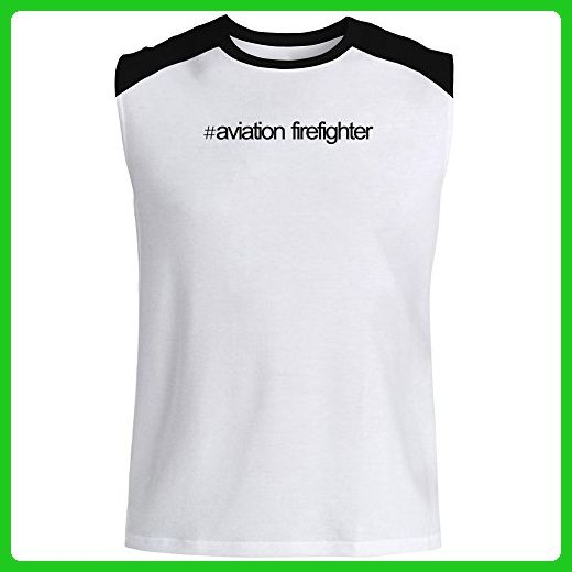 Idakoos - Hashtag Aviation Firefighter - Occupations - Raglan Sleeveless T-Shirt - Careers professions shirts (*Amazon Partner-Link)