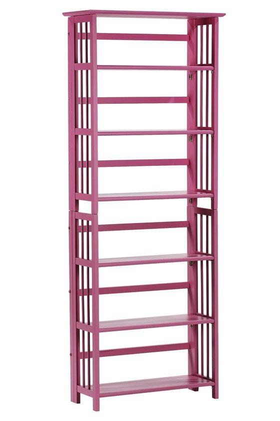 pink bookshelf, what?