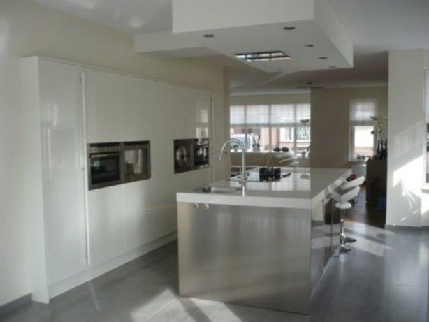 Grote kastenwand met kookeiland wooninspiratie pinterest photos and met - Bar design keuken ...