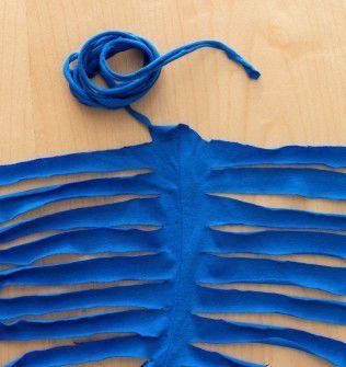 Couper des bandes pour obtenir du fil en continu technique