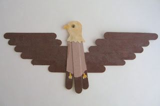 Among the cool things I found in my childhood closet  was this bald eagle craft.        I have a vague recollection of making it at school...