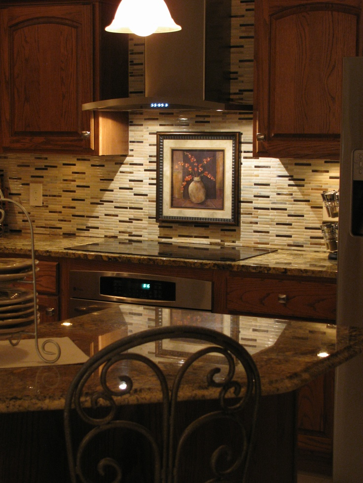 Kitchen Backsplash With Granite Countertops stunning granite countertops with glass tile backsplash ideas