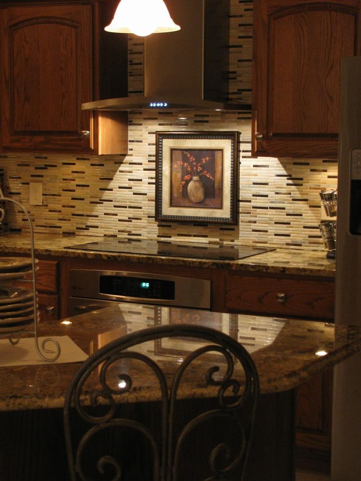 granite countertop glass tile backsplash new appliances - Tile Backsplashes With Granite Countertops