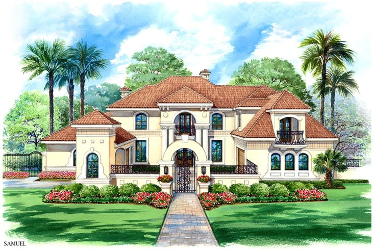 Front Courtyard House Plans And Mansions On Pinterest