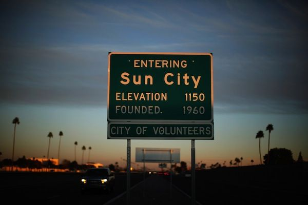 Seniors in Sun City, Arizona