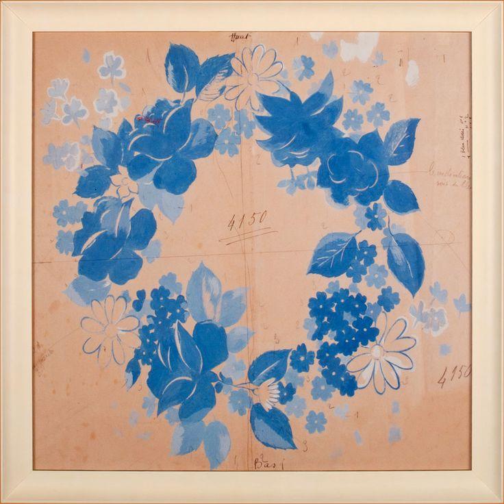Blue Wreath by Paule Marrot: Beach Decor, Coastal Home Decor, Nautical Decor, Tropical Island Decor & Beach Cottage Furnishings