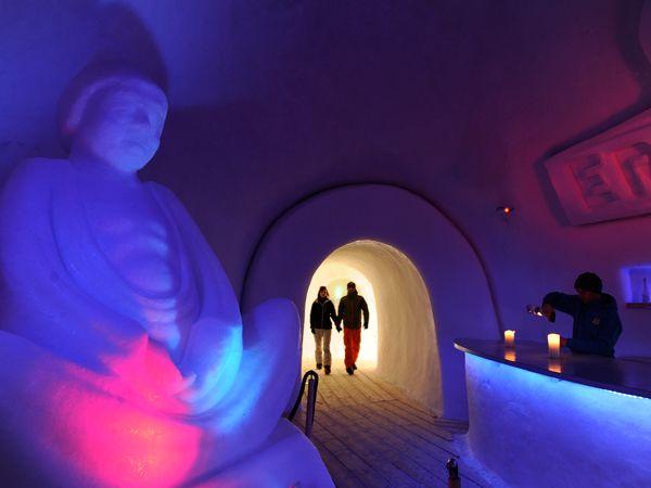 White Lounge Ice Bar in Mayhofen, Austria — one of our favorite places to enjoy apres ski