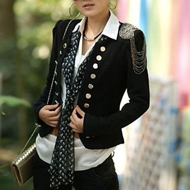 Women's+Stylish+Style+Scoop+Neck+Double+Breasted+Long+Sleeves+Slimming+Blazer++–+EUR+€+13.71