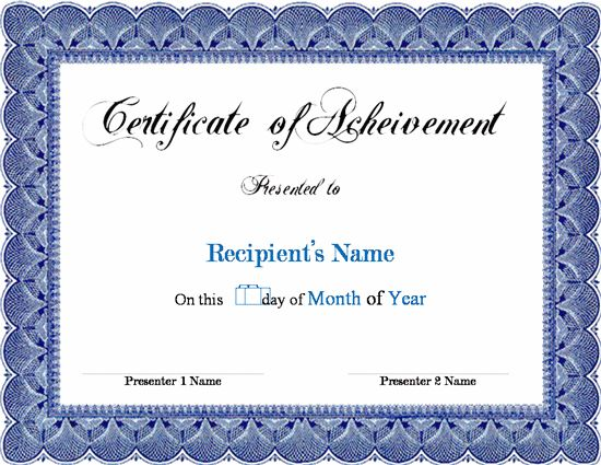Doc33002550 Free Award Certificate Templates for Word Free – Blank Certificate Templates for Word