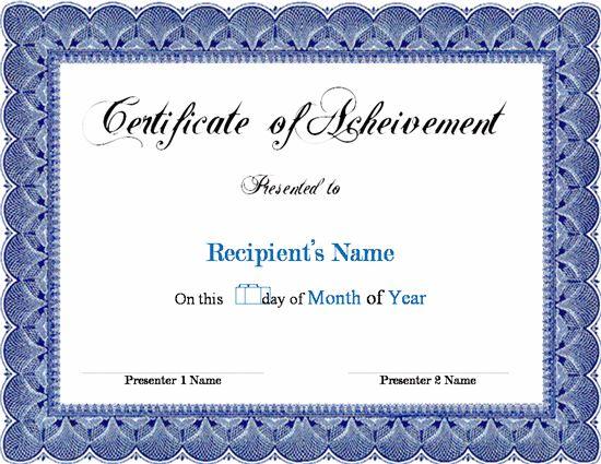 word certificate template PaNCsJRw | Projets à essayer | Pinterest ...