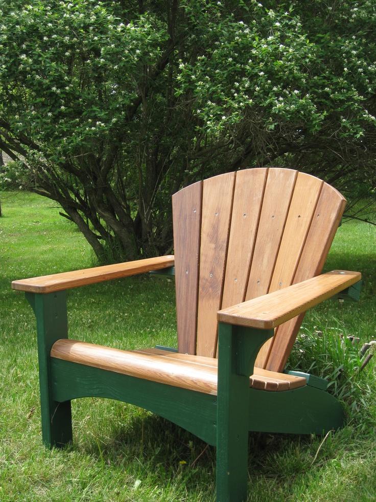 Redwood Patio Furniture Home Depot: DIY Redwood Adirondack, Ready To Relax.