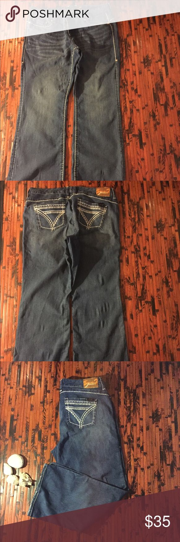 Seven Plus Size Jeans Plus size, size 20, in good condition, accent stitching.  44 inches long, inseam is 30 inches. Seven7 Jeans Boot Cut