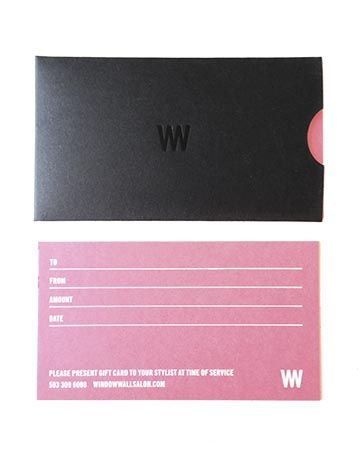WINDOWWALL Salon Gift Certificates for Great #Hair