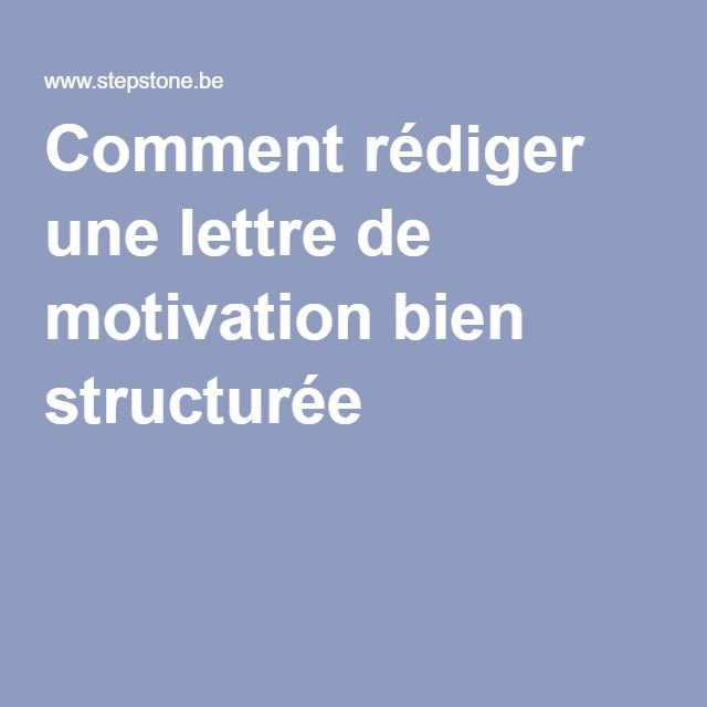 17 best ideas about une lettre de motivation on pinterest