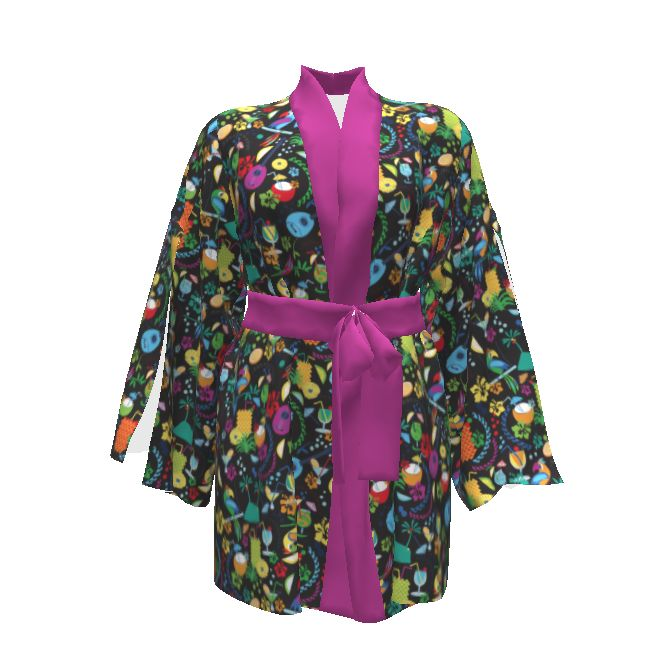 Named Clothing Asaka Kimono made with Spoonflower designs on Sprout Patterns. Perfect for relaxing on those casual evenings with a drink...