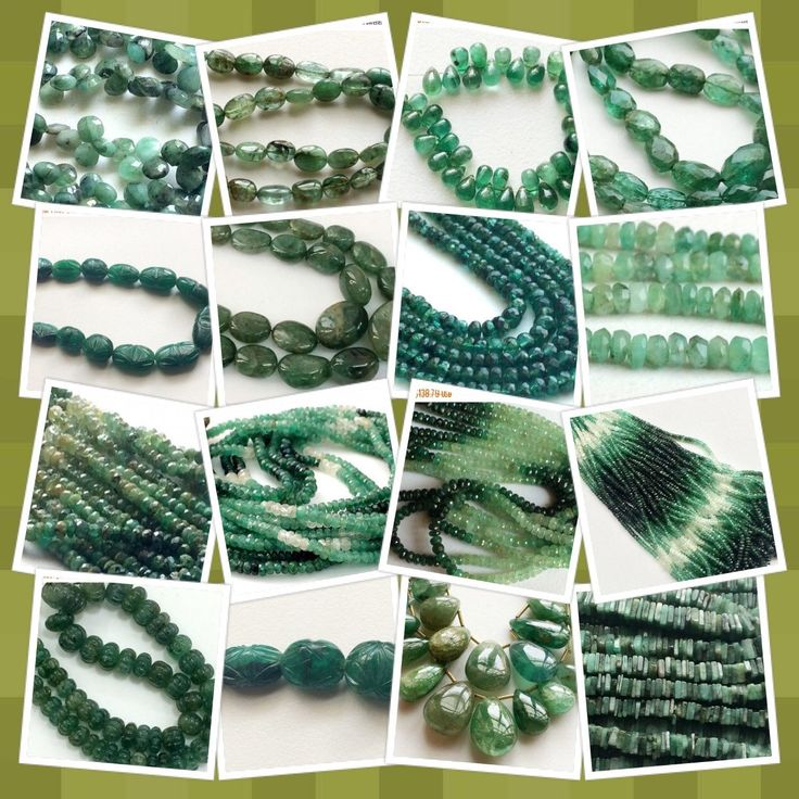 """Emerald - Called the """"Stone of Successful Love"""". It opens & nurtures your Heart & the Heart Chakra. It's soothing energy provides healing to all levels of the being, bringing freshness & vitality to the spirit. Shop the collection on Gemsforjewels!"""