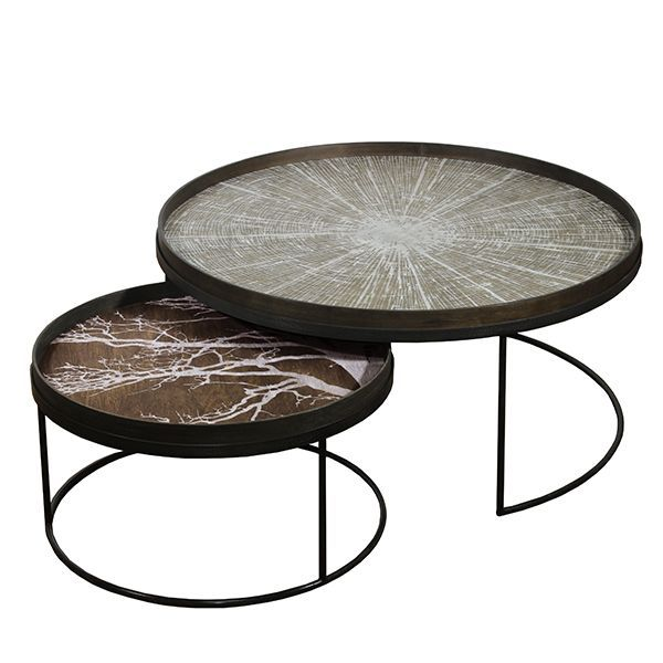 Round Tray table set-low-XL