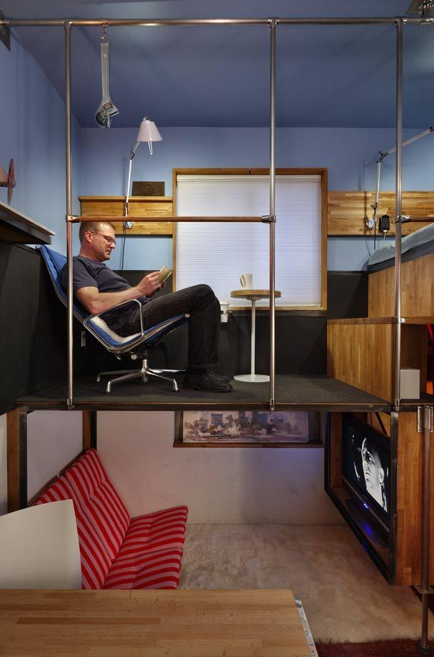 tiny-apartment-sitting-roomSmall Apartments, Teenagers Bedrooms, Tiny House, Small Spaces Design, Reading Nooks, Tiny Apartments, Bedrooms Furniture, Teen Room, Apartments Design
