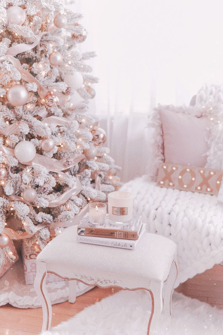Couture Rose Gold Blush Christmas Tree Decoration Details Pink Christmas Tree Decorations Christmas Tree Inspiration Rose Gold Christmas