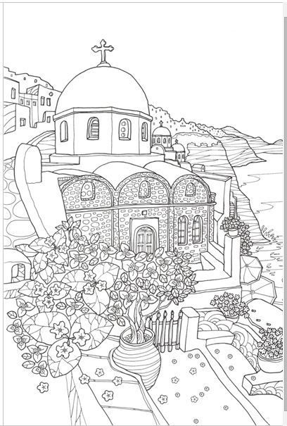 MAMMA MIA GREECE [MADE IN KOREA] Coloring Book For Children Adult  Graffiti Painting Drawing Book Like SECRET GARDEN