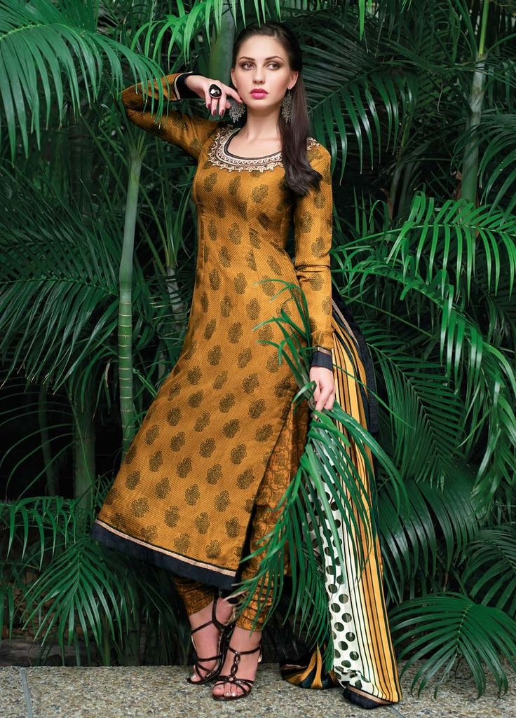 Elegant & Stunning Tussar Silk Suit and Satin Jute Dupatta 6427A