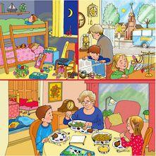 praatplaat om kinderen te stimuleren te praten over wat er te zien is op de plaat