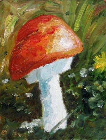 Mushroom 25 x 19 cm Not for sale, oil painting