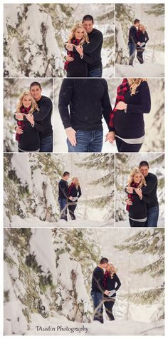 Winter Snow Maternity Photos TAustin Photography 7