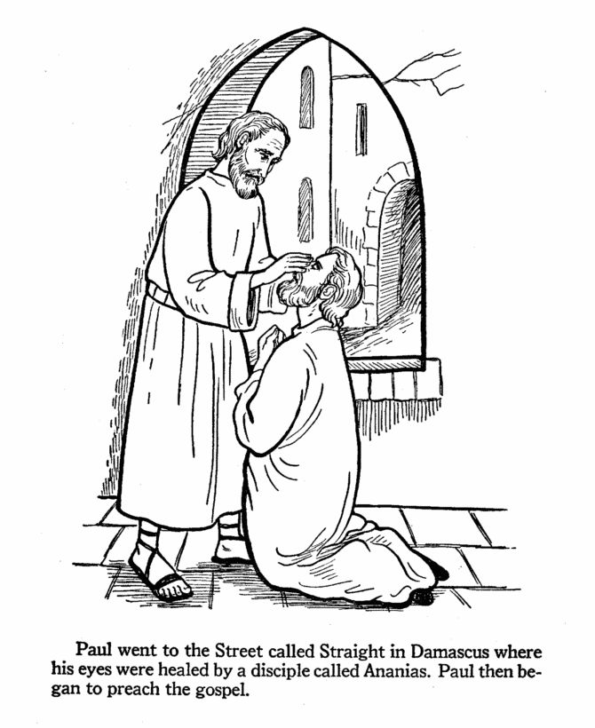 saul conversion story coloring pages - photo#19
