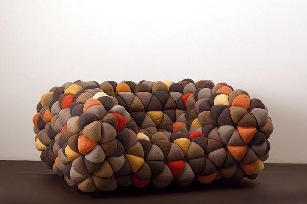 Sofa Stoff-Überzug bunte-Dreiecke Segmentierte-oberfläche