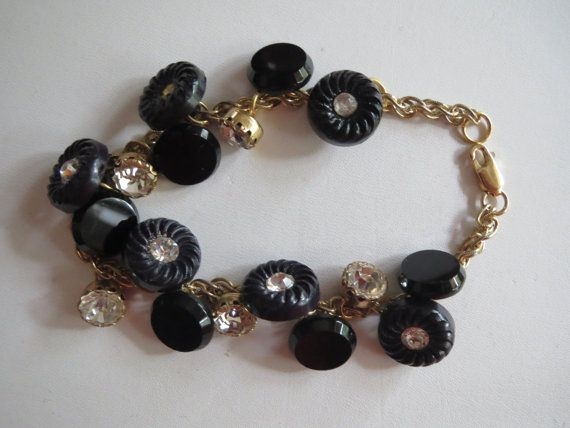 Vintage Button Bracelet - etsy