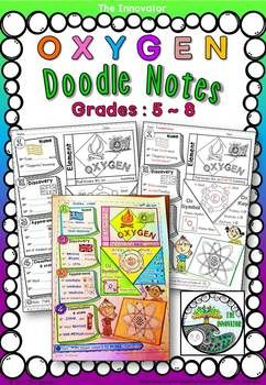 """Element - OXYGEN - """"Doodle Notes"""" .................................................................... This pack is ideal for middle school or upper elementary science, doodle notes help provide visual triggers that improve focus, memory and learning."""