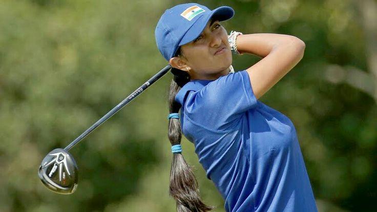 @aditigolf is the first Indian golfer to reach in #Olympics Final #GoForGold #GoForGoldAditi #Rio2016 #RioOlympics