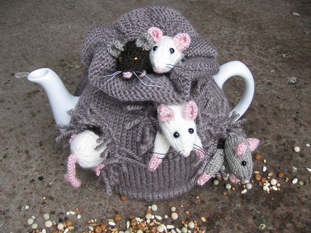 "Lovely ""sack of mice"" tea cozy!"