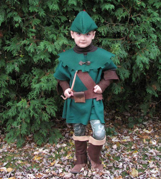 DIY a cute kids Robin Hood costume starting with a sweatshirt! Make a kids Friar Tuck costume from a fleece blanket. Easy and inexpensive costume ideas.