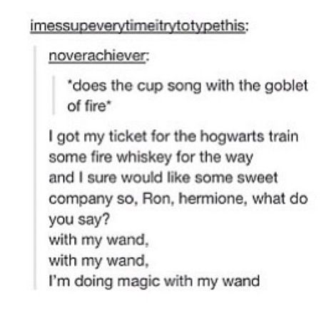 Stabbing with Gryffindor's sword, and defeating the dark lord, oh. I'm doing magic with my wand.