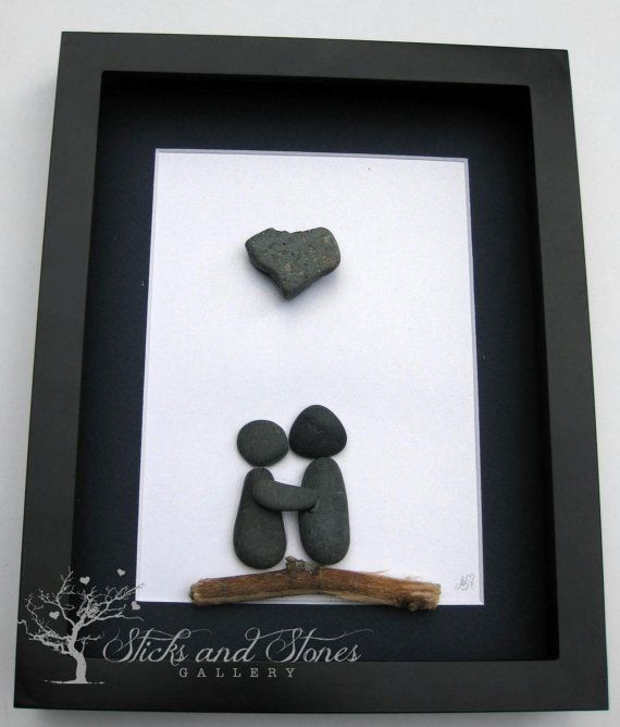 Motivational Pebble Art  Valentine's Day  COUPLE'S by SticksnStone