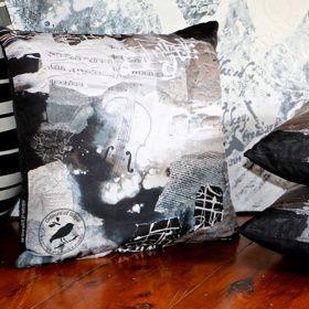 'Beautiful Music' Art Cushion | Throw Pillow - Unique original handmade designs, soft, silky, luxurious! $65 http://coloursofhope.com.au/store?category=cushion
