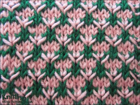 A really easy stitch that looks more complicated than it is. The Thorn stitch is an eight row repeat and is knitted in a multiple of four stitches plus one.
