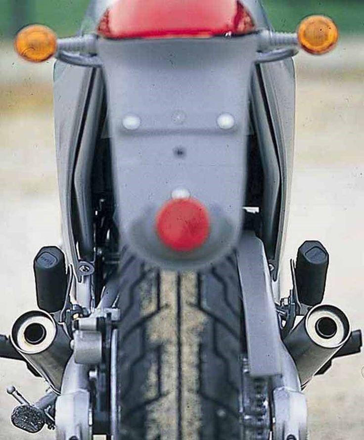 Aprilia Moto 6.5 motorcycle review - Rear view