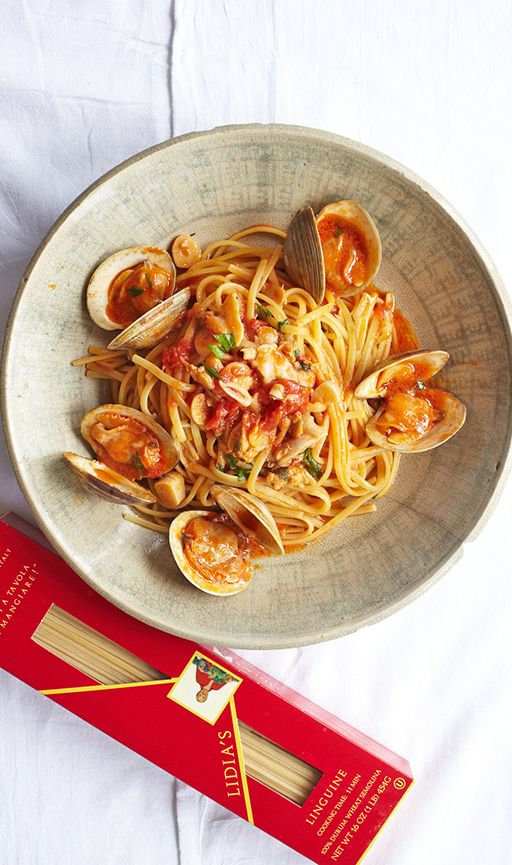 Lidia Bastianich's Vermicelli with Red Clam Sauce #pasta