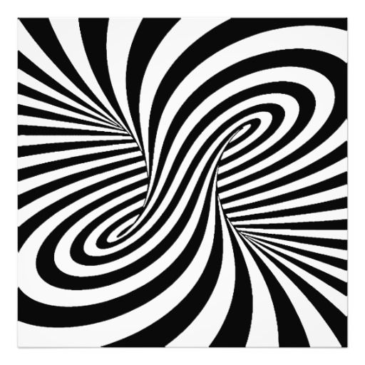 Elegant Swirl Designs Clip Art | BLACK WHITE ZEBRA SWIRLS PATTERNS OPTICAL ILLUSION PHOTO PRINT