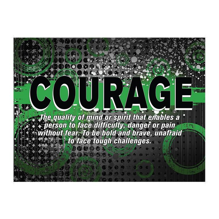 ABSTRACT DEFINITION POSTER COURAGE