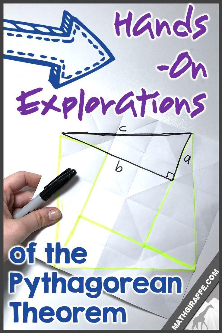 Best 25 pythagorean theorem ideas on pinterest pythagorean hands on explorations of the pythagorean theorem math giraffe the math classroom blog robcynllc Image collections