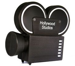 Movie camera bank. Cute decor