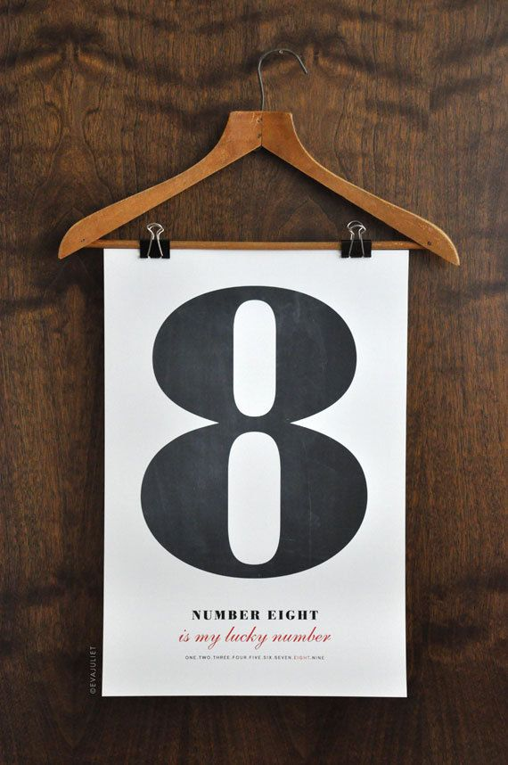 Pick a number Personalized Number Poster art print by evajuliet, $38.00