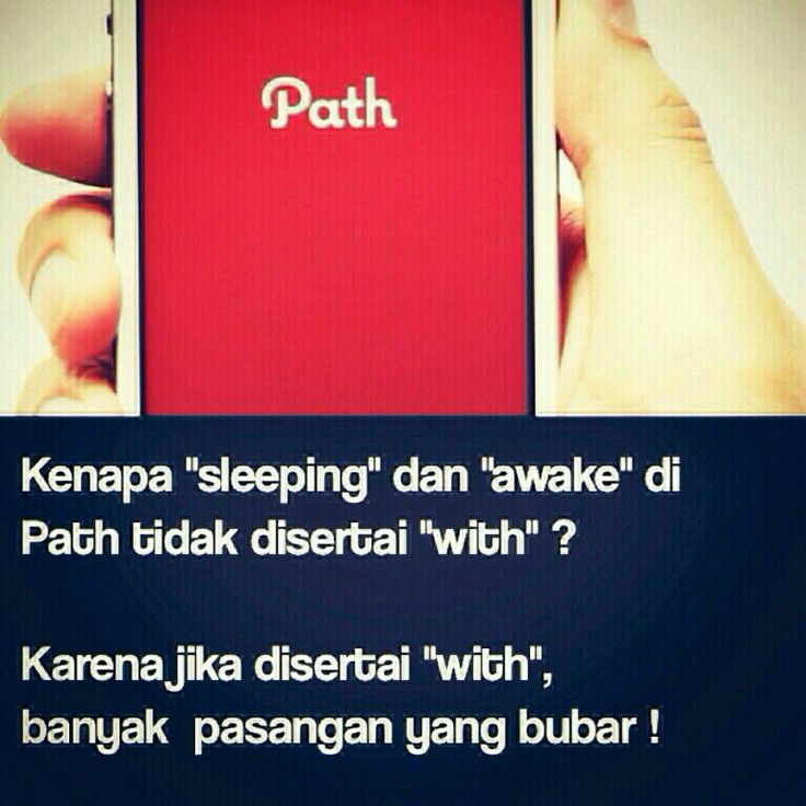 "Di Path, masalah ""sleeping"" ""with""..."