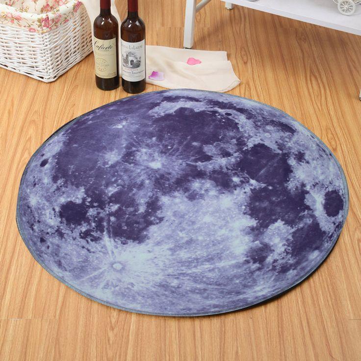 Universo espacio ultraterrestre niños temáticos ronda de play carpet rug kids galaxy alfombras dormitorio cesta colgante silla de la computadora estera del rompecabezas