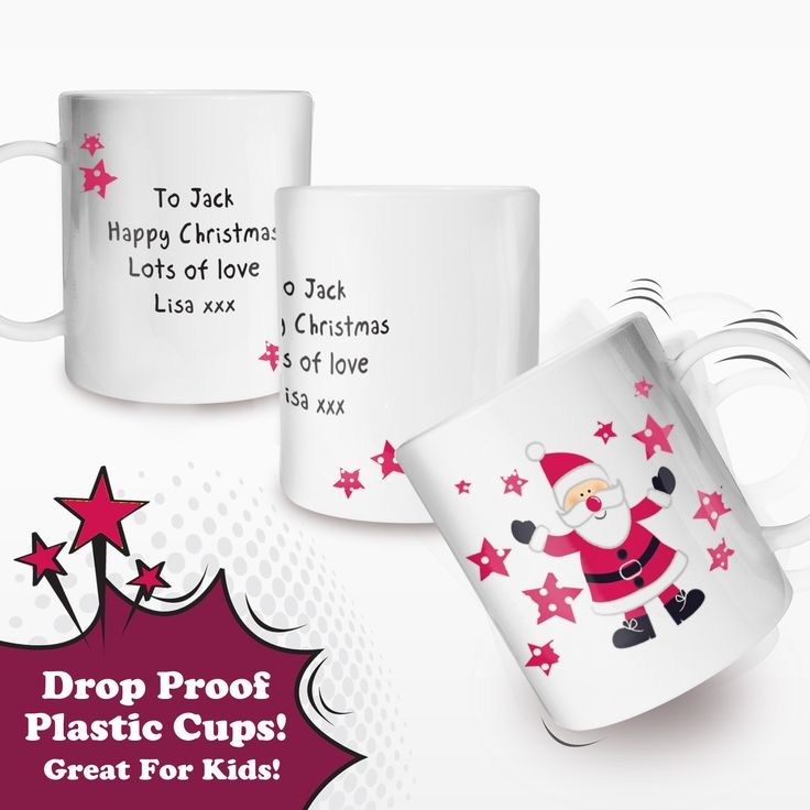 Personalised Childrens Plastic Christmas Cup