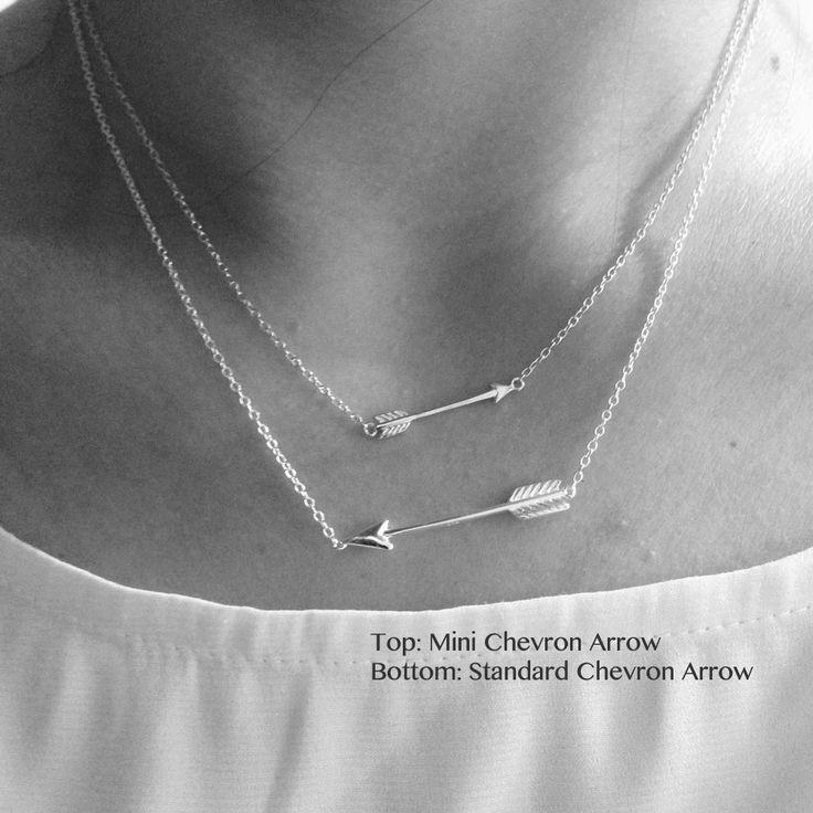 Sterling Silver Mini Arrow Pendant Necklace 17 inch
